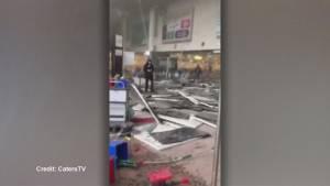 Destruction inside Brussels airport following deadly terror attack