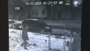 Woman's Christmas laser light stolen from front yard, thief caught on surveillance video
