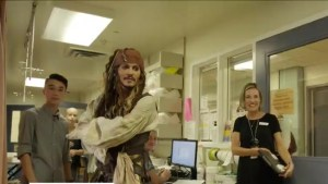 Johnny Depp visits patients at B.C. Children's Hospital