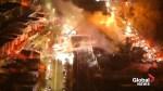 Massive fire engulfs Boston casket warehouse