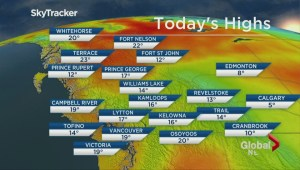 BC Evening Weather Forecast: May 22
