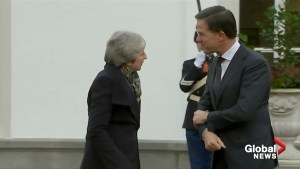 Theresa May meets Dutch PM Mark Rutte