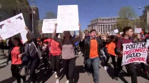 Walkouts held across U.S. to push for better gun control on anniversary of Columbine shooting