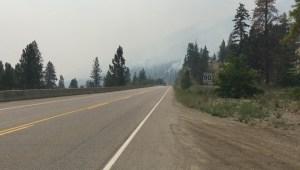 Mount Eneas fire is bottle-necking traffic along Highway 97