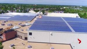 Alberta city makes history with country's largest rooftop solar system