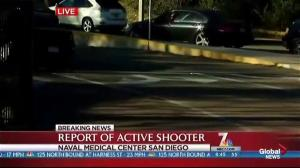 SWAT, Military, and California Highway Patrol respond to active shooter situation at San Diego naval medical centre