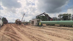 Pipeline opponents take to the streets