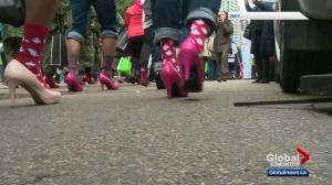Walk a mile in her shoes campaign raises awareness for domestic violence prevention