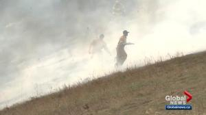 Windy, dry conditions mean lots of grass fires in Edmonton