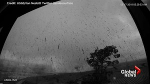USGS time-lapse cameras capture latest eruption at Kilauea Volcano in Hawaii