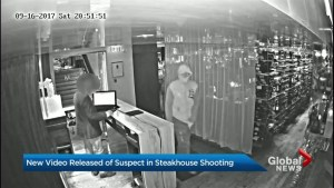New video released of suspect in Toronto steakhouse shooting