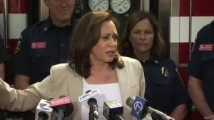 Need to agree that climate change had role in California fires: Harris