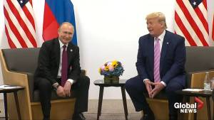 'Don't meddle in the election': Trump points joke at Putin during talks