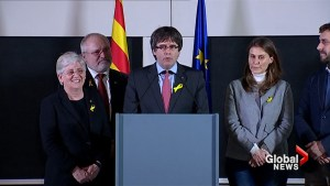 Puigdemont says he will return to his office in Barcelona