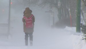 RAW: High winds, frigid temperatures hit Manitoba Thursday