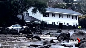 Mudslides sweep through Southern California