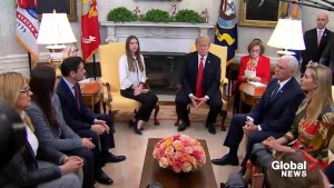 Trump welcomes wife of Juan Guaido to the White House
