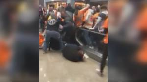That escalated quickly: Flyers fans thrown from malfunctioning arena escalator