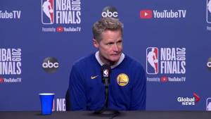 NBA Finals: Kerr says Durant will practice with team, Warriors talk how game changes if he returns (02:56)