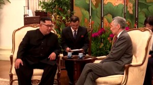 Kim Jong Un meets with Singapore PM ahead of historic summit with Trump