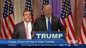 Donald Trump, Hillary Clinton big winners on Super Tuesday