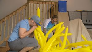 Weyburn's balloon wizard, Richy Roy, attempting to set Guinness World Record