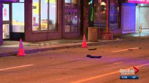 Pedestrian killed in central Edmonton hit and run