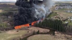 Arson investigation into Mayerthorpe train trestle bridge fire
