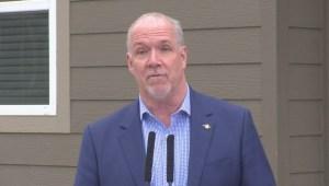 Horgan defends speculation tax during Okanagan visit