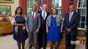 Halifax university student pitches research to President Obama