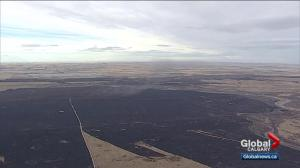 Wildfire flares up in Vulcan County