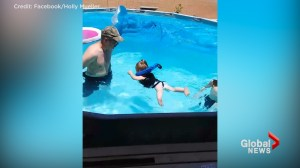 Grandfather demonstrates how toddler nearly drowned despite wearing what is thought to be a lifejacket