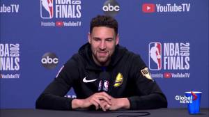NBA Finals: Thompson says he tries to 'enjoy the journey' (02:36)