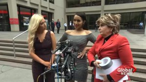 A former Texans cheerleader says she was body-shamed, duct-taped during game