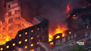 Firefighters battle massive fire at Philadelphia warehouse