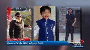 Calgary family killed in Texas crash