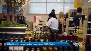 Ontario residents stock up before possible LCBO strike (01:27)