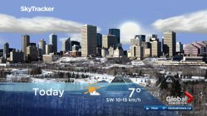 Edmonton early morning weather forecast: Monday, December 11, 2017
