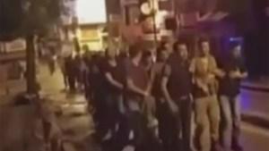 Turkish citizens seen taking military officials into custody, commandeering vehicles