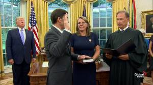 Mark Esper is sworn in as defense secretary