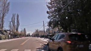 Richmond pedestrian near-miss caught on camera