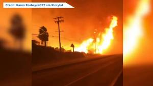 California wildfires: Flames from Woolsey fire whip up 'firenado' in Malibu