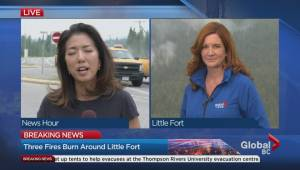 On the firefighting front lines in Little Fort