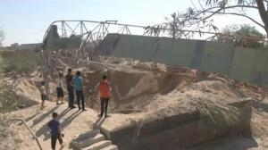 Raw video: Aftermath of Israeli airstrikes on Gaza