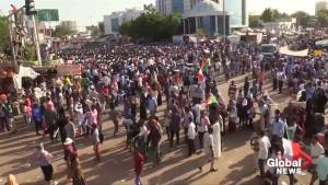 Crowds demand civilian rule in Sudan after Omar al Bashir's ouster