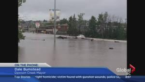 Evacuations in Dawson Creek due to flooding