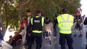 Some migrants decide to return home days after tear gas incident