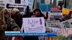 Protest against changes to Ontario Autism program