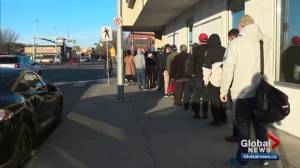 Edmontonians line up at cannabis stores on day pot becomes legal