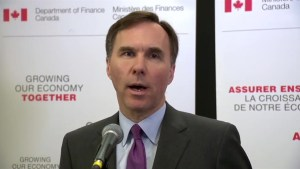 Finance Minster Bill Morneau on benefits